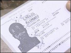 A fake identity card