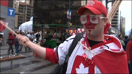 Canadian sports fan