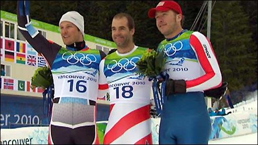 Askel Lund Svindal, Didier Defago and Bode Miller