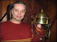 Roman re-enactor