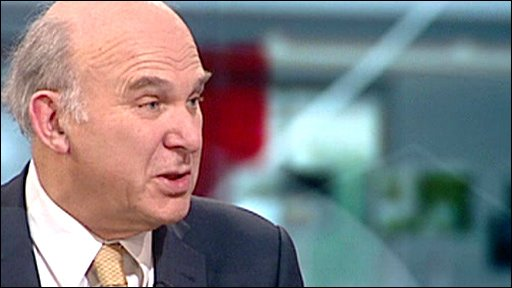 Liberal Democrat Treasury spokesman Vince Cable