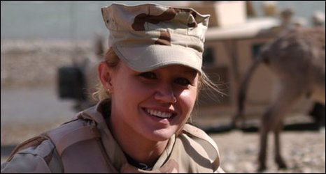 Marti Ribeiro photographed in Afghanistan