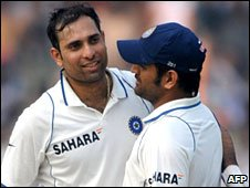 Mahendra Dhoni and VVS Laxman