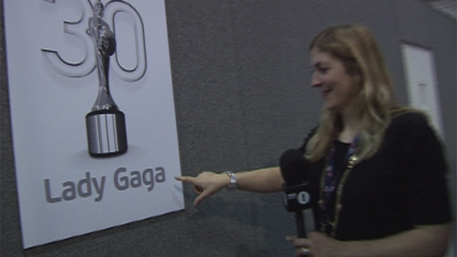Lady Gaga's dressing room