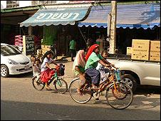 Mae Sot street, Thailand