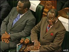 Morgan Tsvangirai (left) and Robert Mugabe (rigth)