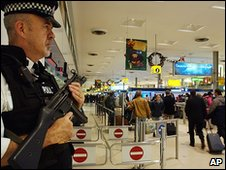 Policeman at Heathrow Airport