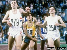 Steve Ovett outpaces Seb Coe to win the 800m in Moscow