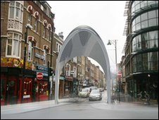 planned arches would sit at each end of Brick Lane