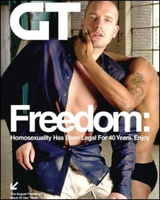  Gay Times front cover banned from the Tube August 2007