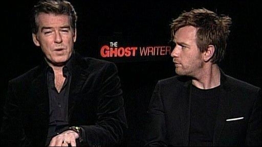 Bbc News Pierce Brosnan And Ewan Mcgregor On Their New Film