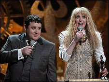 Peter Kay and Courtney Love