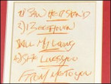Beatles set list