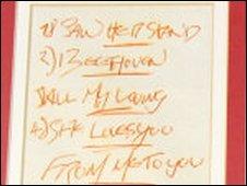 Beatles set list