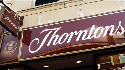 Thorntons shopfront