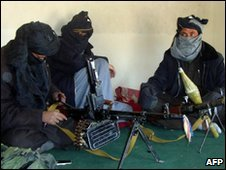 Taliban fighters in Ghazni province, Afghanistan - 23 January 2010