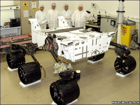 MSL rover in August 2008 (Nasa-JPL-Caltech)
