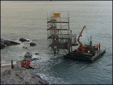 Removal of Tinside diving platform