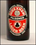 Wrexham Lager logo - the ace of clubs - could be seen on bottles around the world