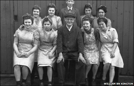 1947... Staff at Border Breweries Mineral Works, Wrexham
