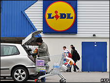 A Lidl store (file pic)