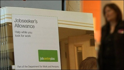 Image of Job Seekers Allowance guidance booklet in Jobcentre
