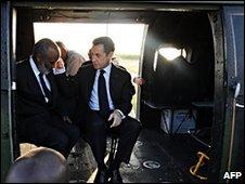 Rene Preval and Nicolas Sarkozy, 17/02/10