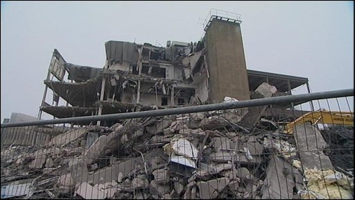The demolished old police station in Bradford