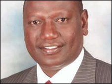 Agriculture Minister William Ruto