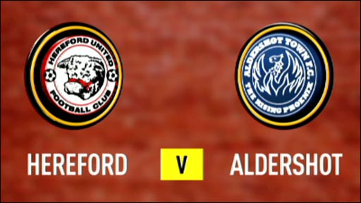 Hereford 2-0 Aldershot