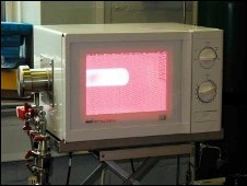 Modified sterilising microwave oven developed by Glyndwr University, Wrexham
