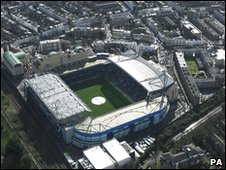 Stamford Bridge stadium from air (Library)
