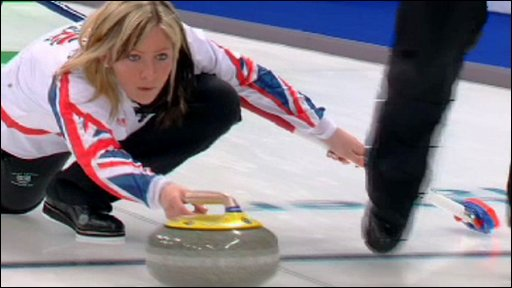 eve muirhead curling. Eve Muirhead. GB shock curling