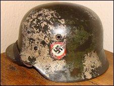 German SS camouflage helmet