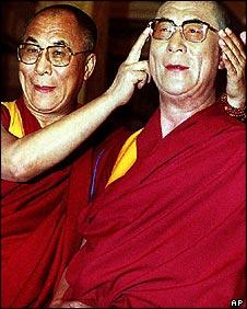 Dalai Lama with waxwork