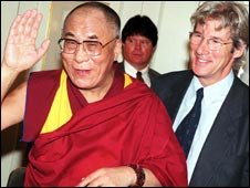 Dalai Lama with Richard Gere