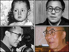 Dalai Lama over the years