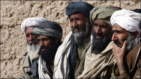 Village elders in Lashkar Gah, Helmand Province