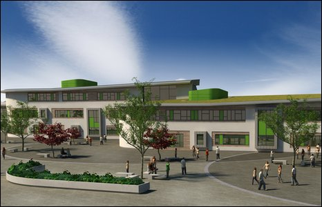 An artist's impression of the new Foyle College