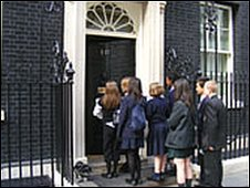 School Reporters at Downing Street