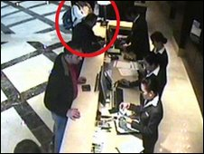 Hamas member Mahmoud al-Mabhouh in the Dubai hotel, 19 January