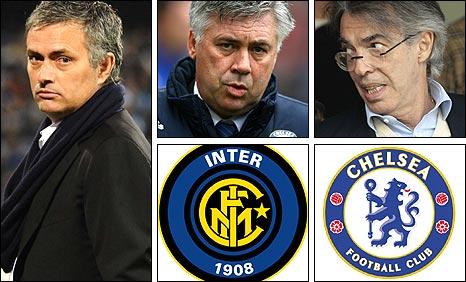 Jose Mourinho, Carlo Ancelotti, Massimo Moratti