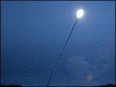 US missile interceptor test (file photo)