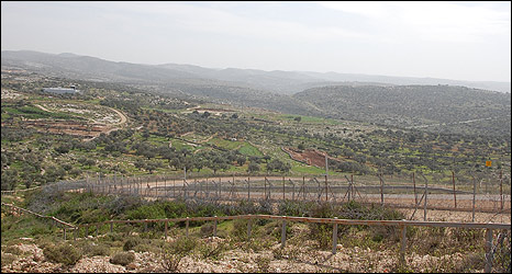 West Bank barrier in Bilin area