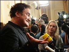 Quentin Tarantino arrives at the Critics' Choice Awards