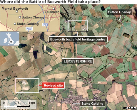 New Battle of Bosworth Field site revealed