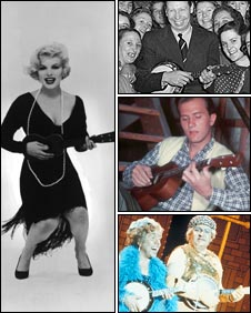 Marilyn Monroe, George Formby, Pat Boone and the Two Ronnies