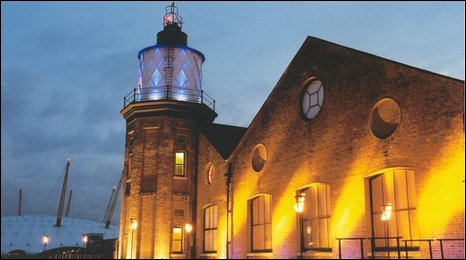 London's only lighthouse at Trinity Quay Wharf