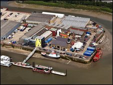 Aerial view of Trinity Buoy Wharf