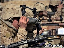 US Marines with NATO forces